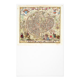 Map of Paris, 1576 Stationery