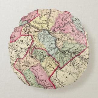 Map of Putnam, Kanawha, Boone counties Round Cushion