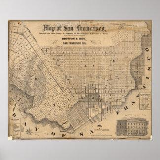 Map of San Francisco Poster