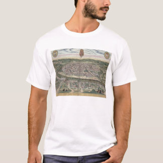 Map of Seville, from 'Civitates Orbis Terrarum' by T-Shirt