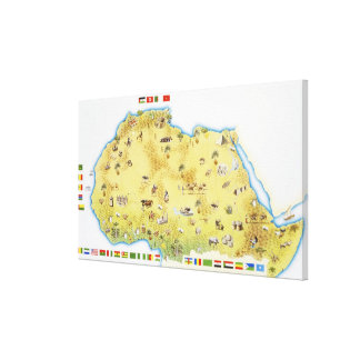 Map of South Africa Canvas Print