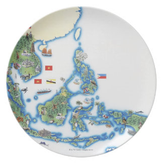 Map of southeastern Asia Plate