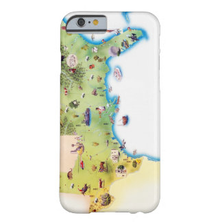 Map of Southern United States of America, with Barely There iPhone 6 Case