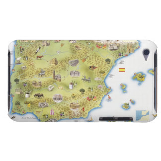 Map of Spain and Portugal iPod Touch Cases