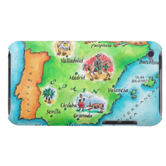 Map of Spain Barely There iPod Cases