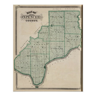 Map of Spencer County Poster