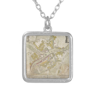 Map of St Petersburg Russia created in 1737 Personalized Necklace