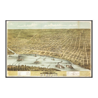 Map of the City of Memphis Tennessee (1870) Canvas Print