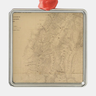 Map of the district of the High Plateaus of Utah Christmas Ornament