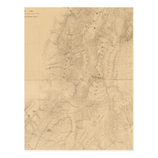 Map of the district of the High Plateaus of Utah Postcard