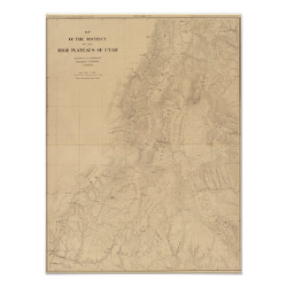 Map of the district of the High Plateaus of Utah Posters