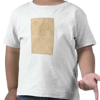 Map of the district of the High Plateaus of Utah Tee Shirt