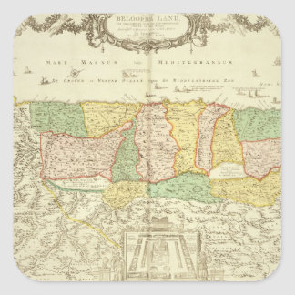Map of the Holy Land, pub. by Jan Barend Elwe, Ams Square Sticker