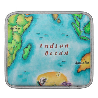 Map of the Indian Ocean iPad Sleeve