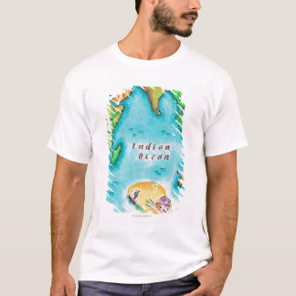 Map of the Indian Ocean T-Shirt