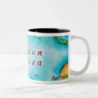 Map of the Indian Ocean Two-Tone Coffee Mug