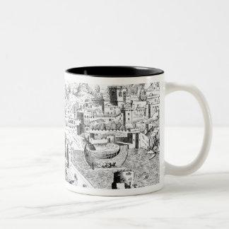 Map of the Island of Rhodes Two-Tone Coffee Mug