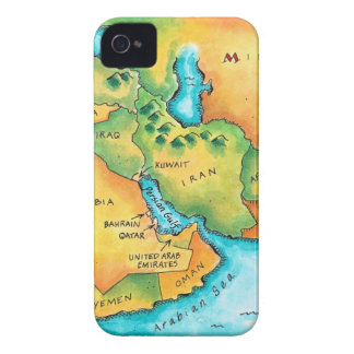 Map of the Middle East iPhone 4 Case-Mate Cases