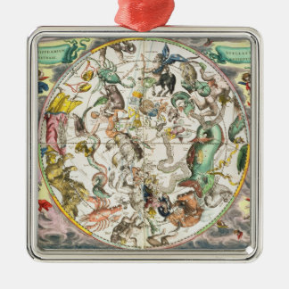 Map of the Southern Hemisphere, from 'The Celestia Christmas Ornament