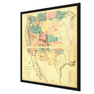 Map of the Territory of the United States (1858) Canvas Print