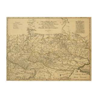 Map of the Ukraine by Guillaume Sanson (1674) Wood Print
