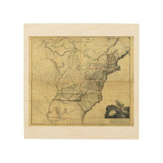 Map of the United States of North America (1811) Wood Canvas