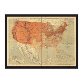 Map of the United States of North America (1861) Canvas Print