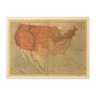 Map of the United States of North America (1861) Wood Print