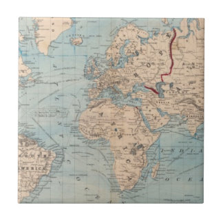 Map of the world on Mercator's projection Tile