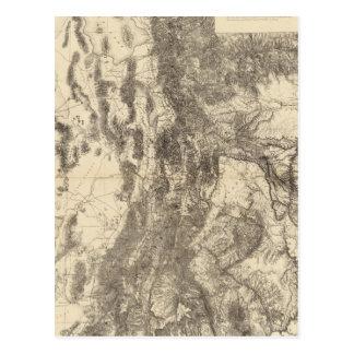 Map of Utah Territory Postcards