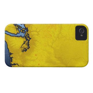 Map of Washington 2 iPhone 4 Case-Mate Case