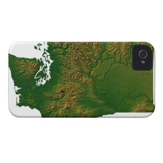 Map of Washington 3 iPhone 4 Case