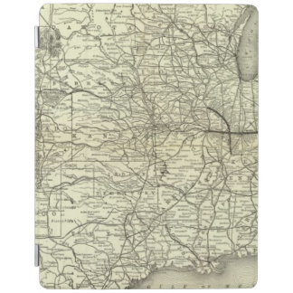 Map Ohio and Mississippi Railway iPad Cover