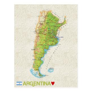 MAP POSTCARDS ♥ Argentina