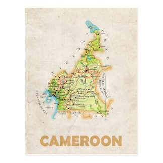 MAP POSTCARDS ♥ Cameroon