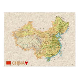 MAP POSTCARDS ♥ China