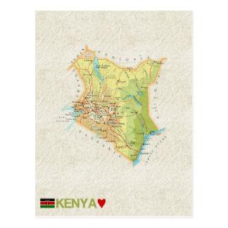 MAP POSTCARDS ♥ Kenya
