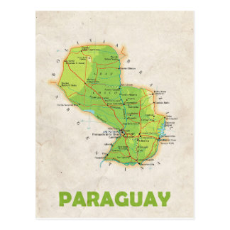 MAP POSTCARDS ♥ Paraguay