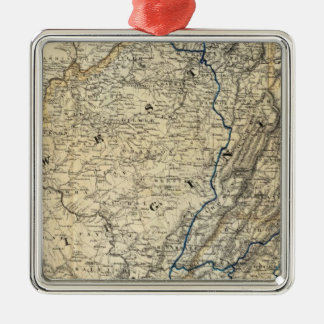 Map Richmond and Louisville RR Christmas Ornament
