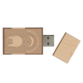 Maple, 8gb, Rectangle ARROW HEADDRESS Wood USB 3.0 Flash Drive