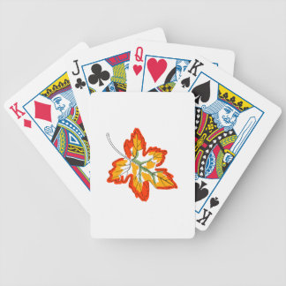 Maple Fall Leaf Bicycle Playing Cards