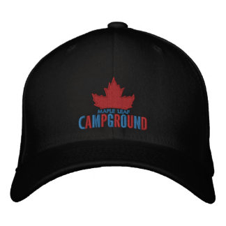 Maple Leaf Campground Hat Embroidered Baseball Caps