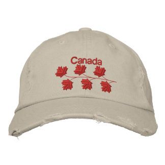 Maple Leaf Canada Embroidered Hats