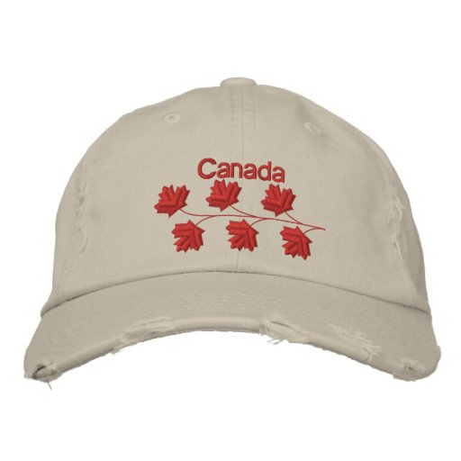 Maple Leaf Canada Embroidered Baseball Cap