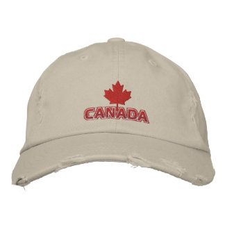 Maple Leaf Canada Personalized Adjustable Hat Embroidered Baseball Cap