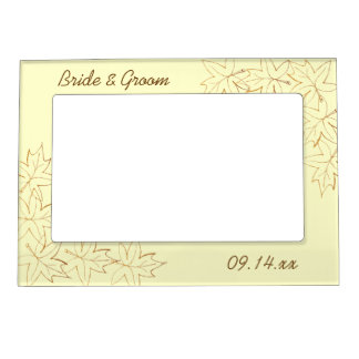 Maple Leaf Edge Fall Wedding Picture Frame
