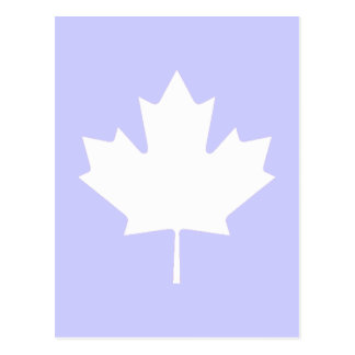 Maple Leaf White Transp The MUSEUM Zazzle Post Card