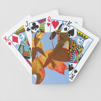 Maple Leaves Bicycle Playing Cards