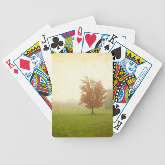 Maple Tree In Fog With Fall Colors Bicycle Playing Cards
