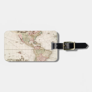 Maps of North and South America (1680-1742) Luggage Tag